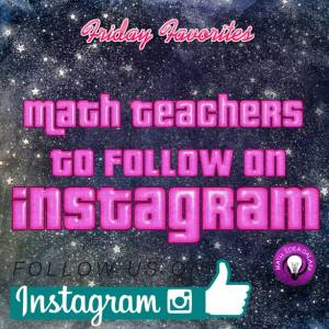 Instagram math teachers for the middle grades to follow! Read more at ideagalaxyteacher.com
