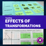 Teaching Effects of Transformations through Matching
