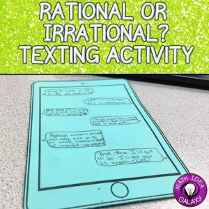 FREE math review activity. Engages students to think creatively about the differences between rational and irrational numbers.