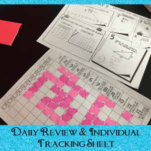 Ten day spiral math review for the end of 8th grade math. Includes student tracking sheet- so important for them to see their own mastery and progress.