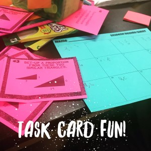 Task cards are THE perfect, versatile tool for teaching students about proportional relationships and similar triangles. Essential for the 8th grade math classroom.