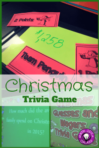 Christmas trivia game- making guesses and wagers. Practice estimation and reasonableness while having lots of holiday cheer.