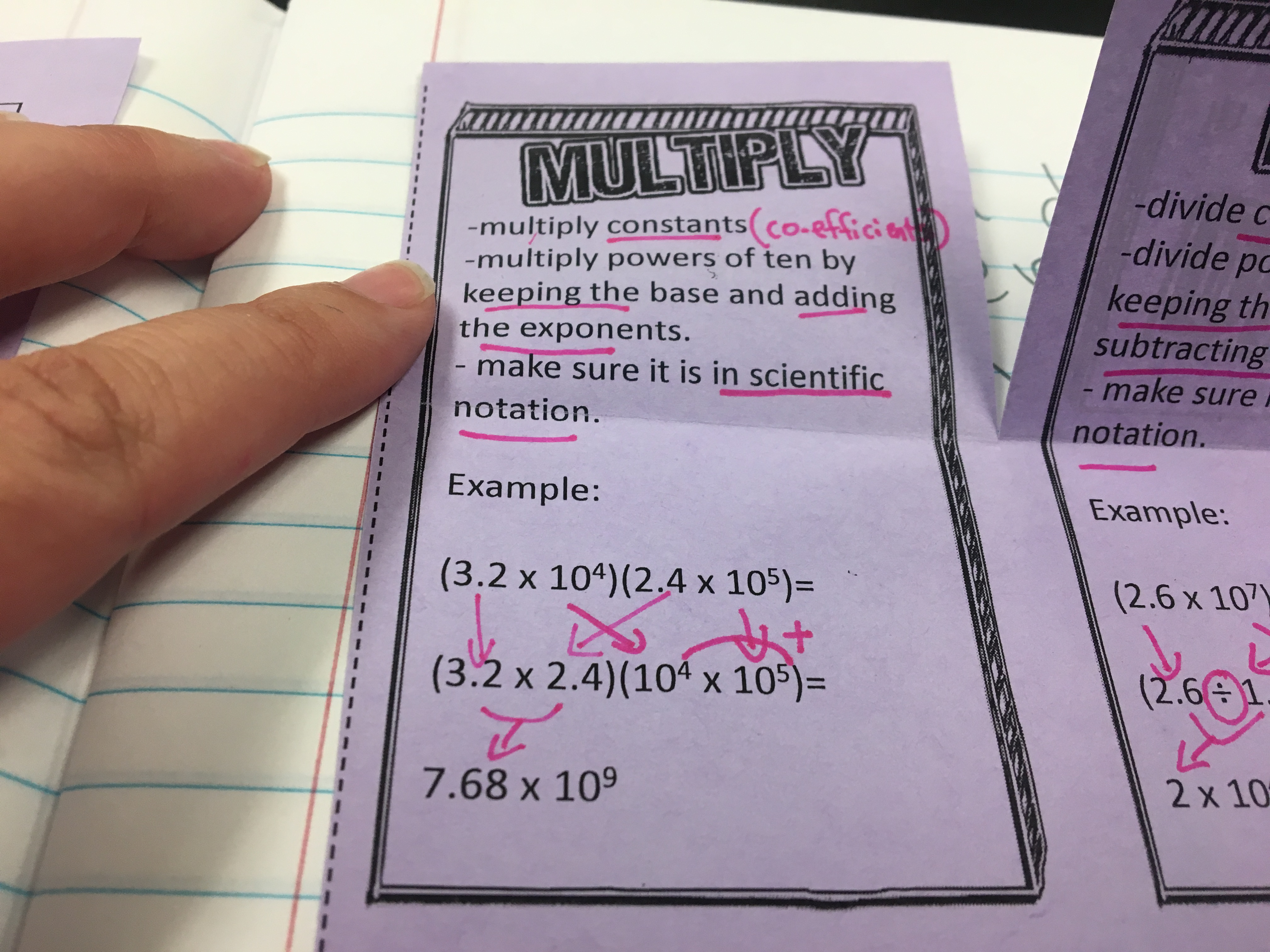 Beginning the operations with scientific notation unit with a discovery lab & interactive notes. Great way to start the unit, get students curious, and give students a clear understanding of this new concept.
