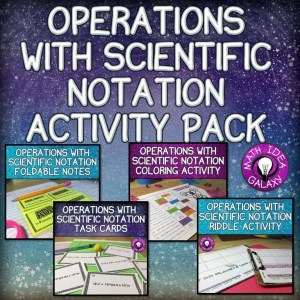A blog post about 9 activities for practicing operations with scientific notation.