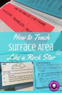 Step by step break down of how I teach my students about surface area. Includes free download of I Can statements for the interactive math notebook, and a look at specific misconceptions that can trip students up.