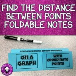 How using interactive notebook foldable & discovery lab to help students understand the distance formula.