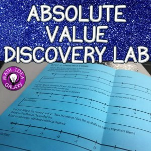 Help students discover and understand the concept of absolute value with this discovery lab.