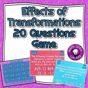 Check out 11 great resources to teach students effects of transformations (including one great freebie!)