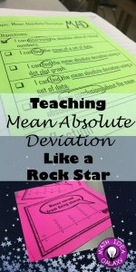 "Step by step break down of how I introduce and teach mean absolute deviation to my middle school math students. Grab the free ""I Can"" statements for teaching this topic!"