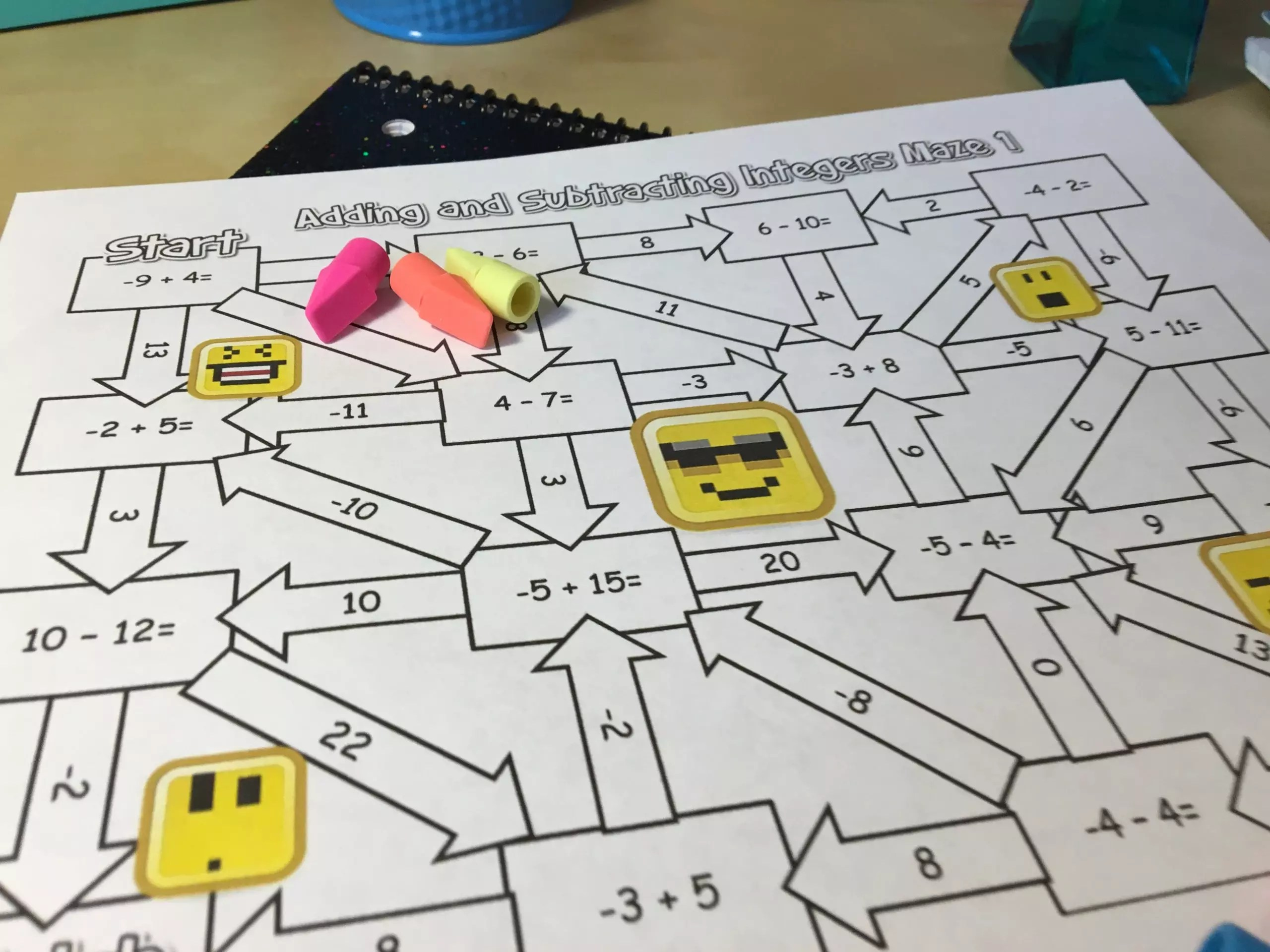 adding and subtracting integers games free