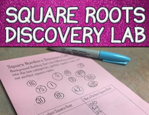 Read this blog post about teaching squares roots through discovery.