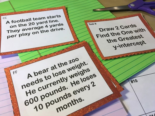 This comparing functions task cards game is a great way to review with functions. Check out all 10 comparing functions activities, including FREE practice activity download.
