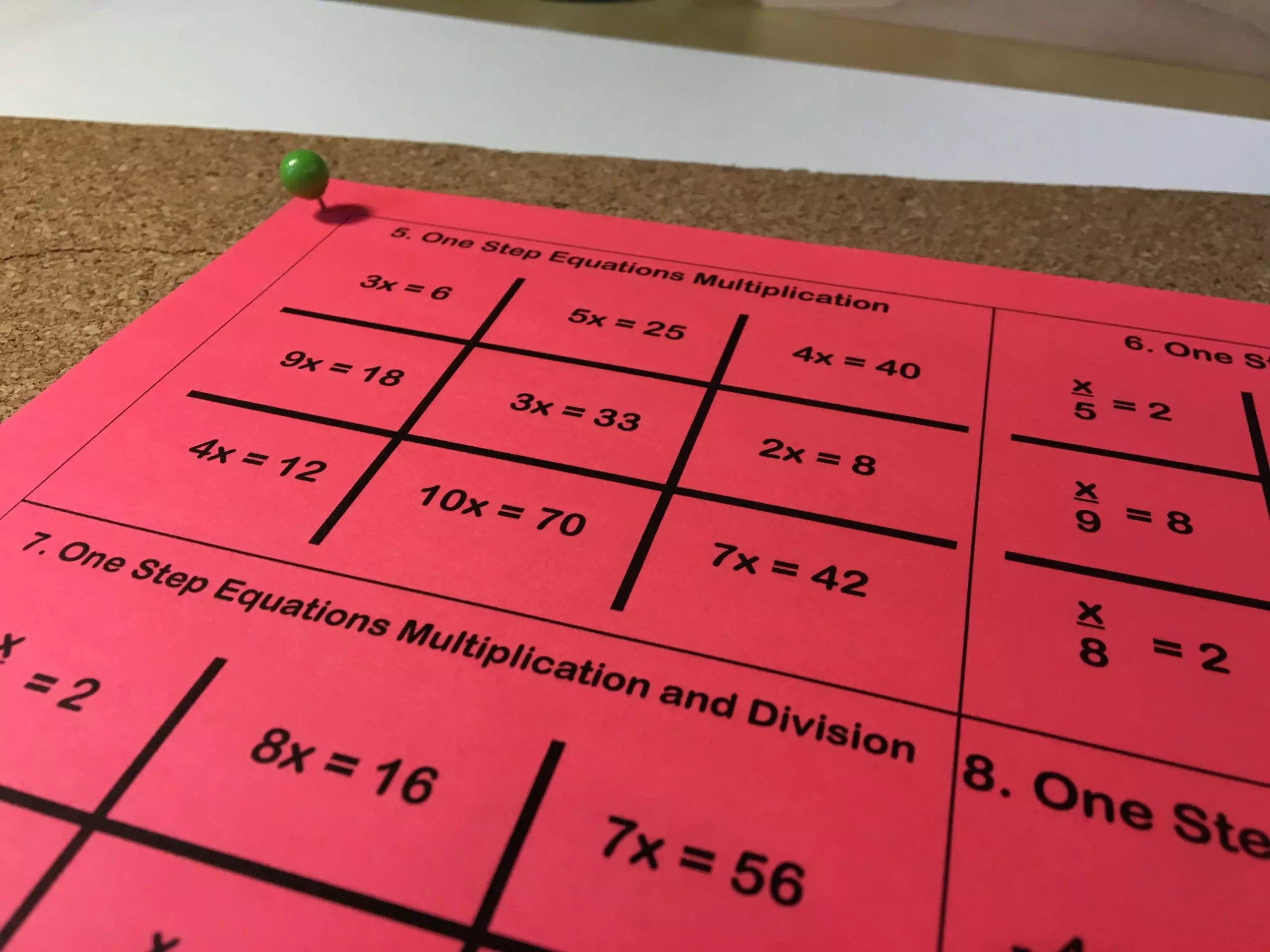 small resolution of 12 One Step Equation Activities That Are Out of this World - Idea Galaxy
