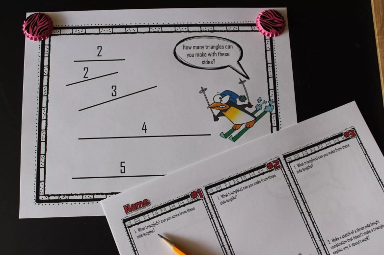 This gallery walk activity for the triangle inequality theorem will get students up and moving. Check out 10 more activities for triangle inequality theorem.