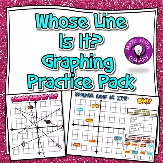 This practice pack gets students practice with graphing lines. This print and go resource is a must-have. Check out all 8 graphing lines activities & resources.