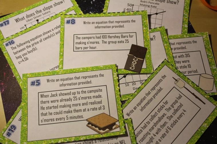 8 Slope Intercept Word Problems Activities That Rock Idea Galaxy
