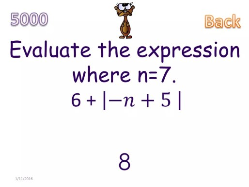 This whole class math game with give students absolute value practice they'll love. It's a fun and engaging absolute value game perfect for review. Check out all 11 absolute value activity ideas and resources!