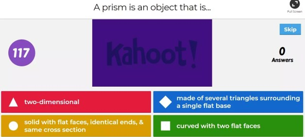 This Kahoot game is a great way to do surface area math review, especially right before a test or for cyclical review. Check out all 11 surface area activity ideas.