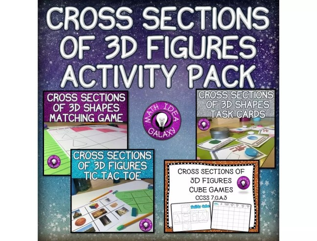 Make practice with cross sections of 3D figures engaging with these low prep activities. Check out all 12 engaging cross sections math activities, including FREE cross sections graphic organizer.
