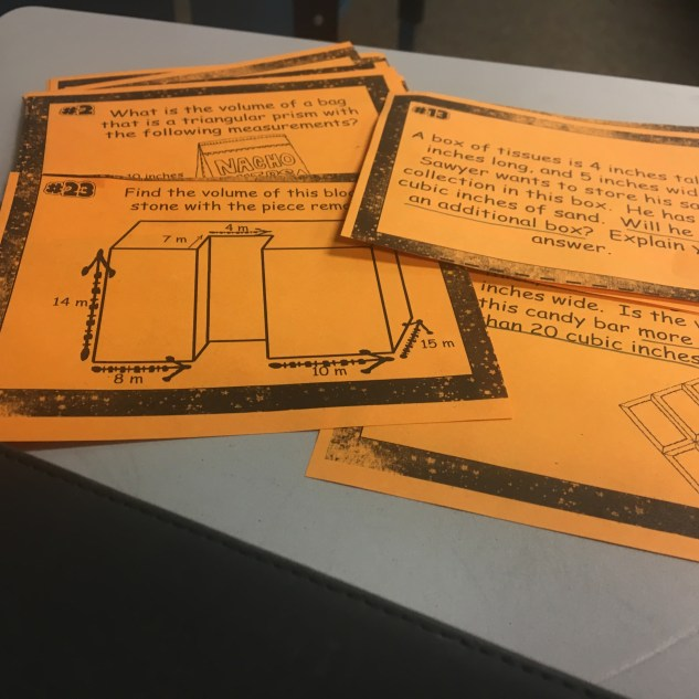 Task cards can be used in so many ways to practice with finding the volume of prisms. Perfect for math stations, whole class review games, and more. Check out all 13 activity ideas to make practicing volume of prisms & pyramids engaging and fun.