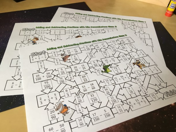 Fractions maze games get students lots of practice while having fun! Check out all 10 adding and subtracting fractions activity ideas for fractions with like denominators.