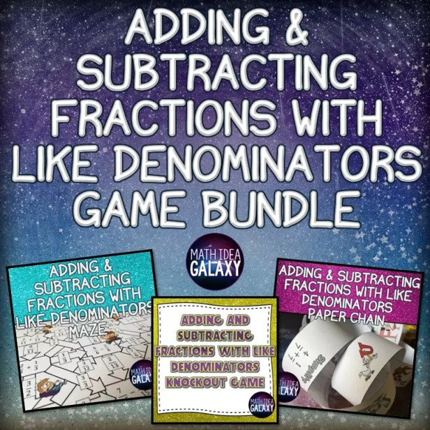 Fun games and activities to help students become masters of adding and subtracting fractions with like denominators.