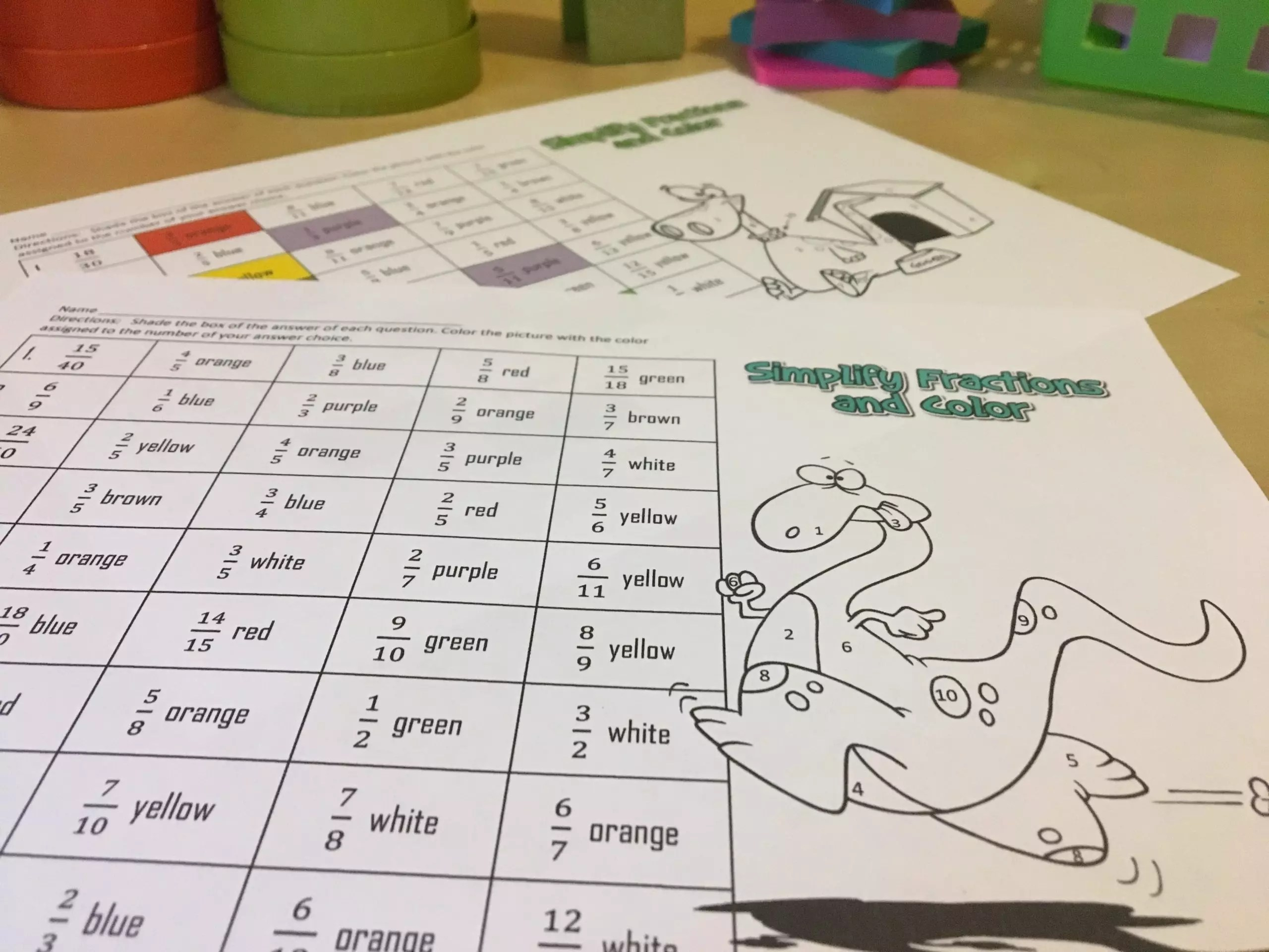 Best Simplifying Fractions Game Printable