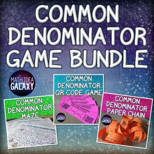 Get students the fractions practice they need with these fun common denominator activities.