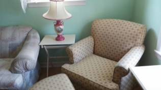 yellow print chair and automan pink victorian lamp beige pink print couch niagara furniture