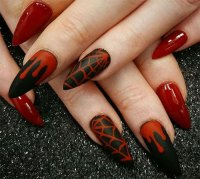 20 Very Easy Halloween Acrylic Nail Art Designs & Ideas