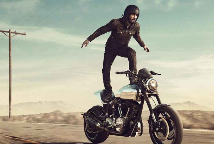 Keanu Reeves Riding an ARCH Motorcycle