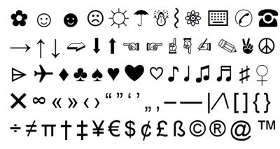 cool symbols for twitter