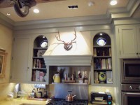 beautiful kitchen and hood | Ideal Cabinets Inc.