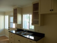 Kitchen with absolute black granite counter top alt view 2 ...