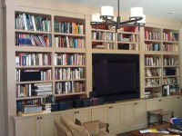 T.V. media bookcase | Ideal Cabinets Inc.