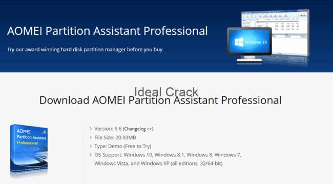 AOMEI Partition Assistant 7.5.1 Torrent + Primer key For Windows + MAC