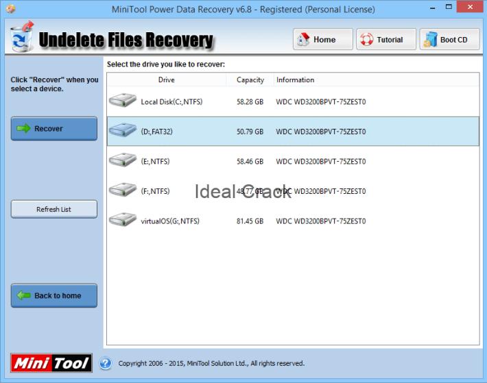 MiniTool Power Data Recovery 8.6 Serial + License Key [2019]