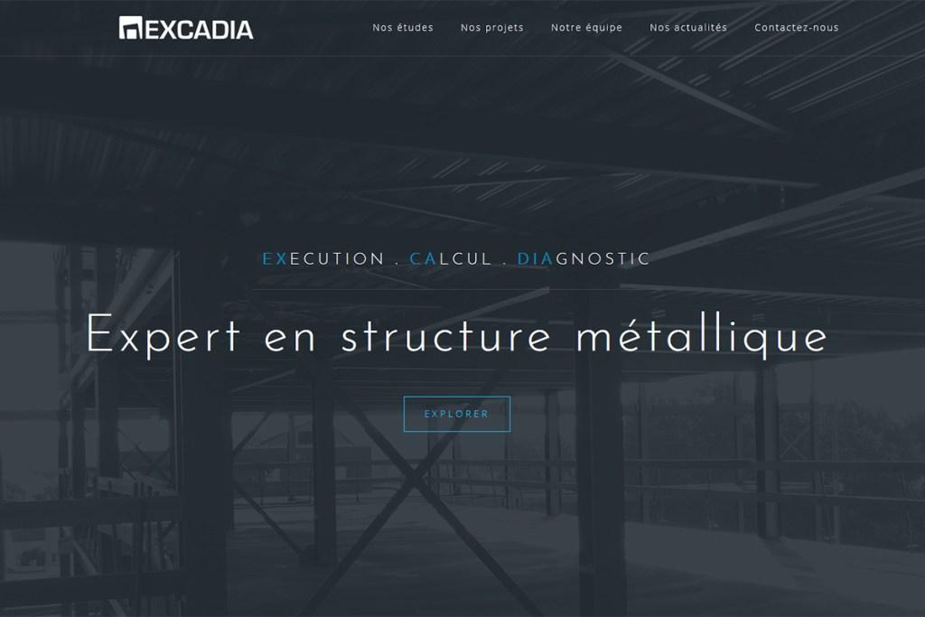 iDéales Communication globale Rédactionnel site internet Excadia