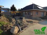 Einfahrt Neubau Bordstein