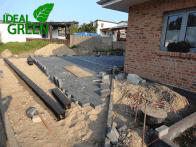 Einfahrt Neubau Entwässerung
