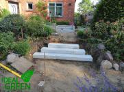 Treppe Granit Weg aus Granitplatten Aufbau 00