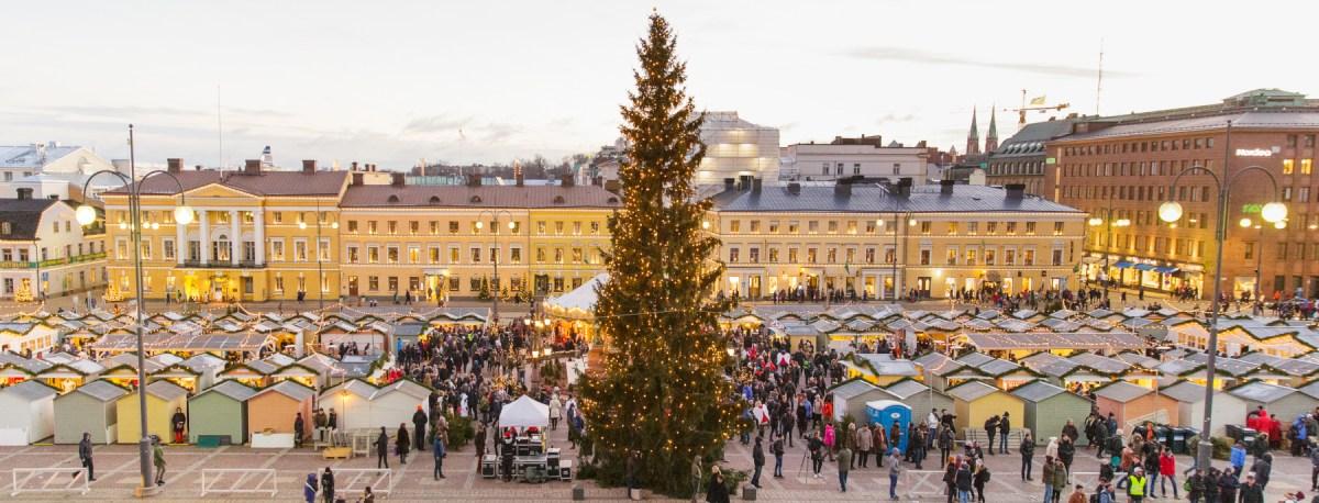 Joulunajan markkinoita Helsingissä 2018