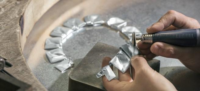 Planetoid Valleys necklace designed by Björn Weckström