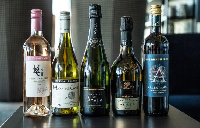 Tallink Silja Linen M/s Symphonylla esilettiin toukokuun puolessa välissä uudet yhtiön laivojen valikoimien uudet viinit