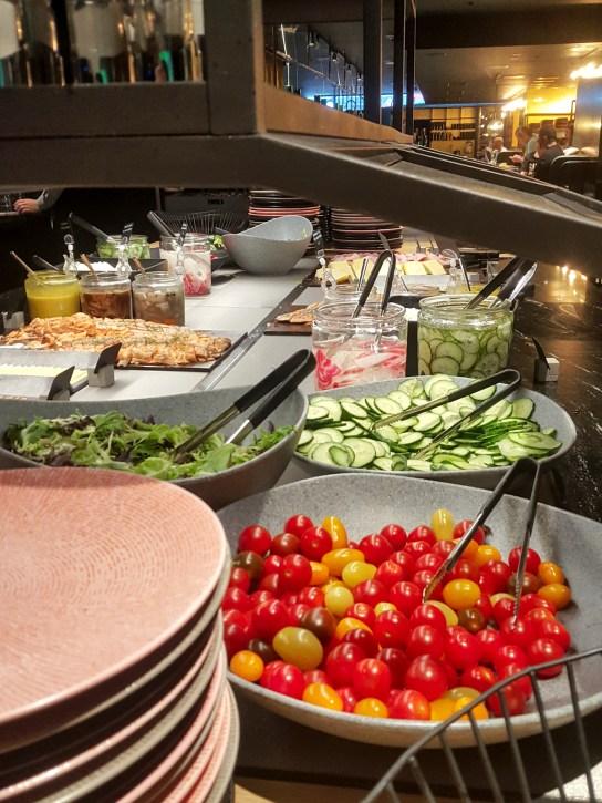 Breakfast table at Kuusi Palaa- restaurant.