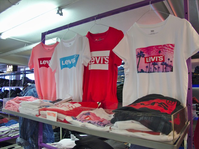 T-shirts are also available from Jeans outlet.