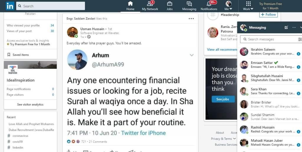 Blog posts social sharing