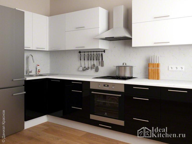 фартук для белой кухни в классическом стиле дизайн фото 2