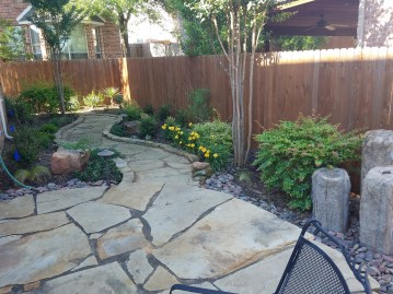 Flag stone patio