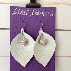 White and Round Multi Color Cuffed Floral Petals Collection